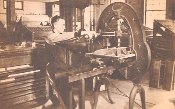 Print Shop Sturbridge, Massachusetts Postcard