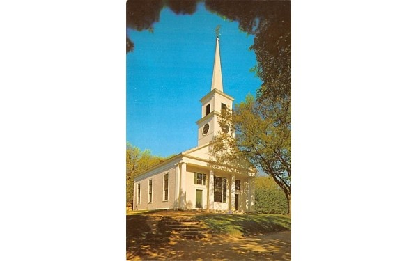 A view of the Meetinghouse Sturbridge, Massachusetts Postcard