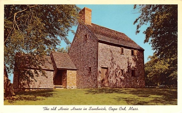 The Old Hoxie House Sandwich, Massachusetts Postcard