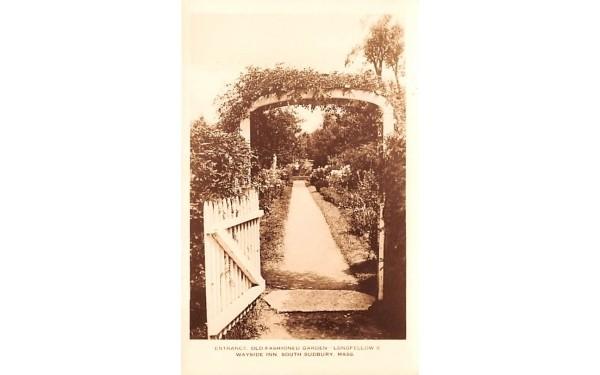 Entrance  South Sudbury, Massachusetts Postcard