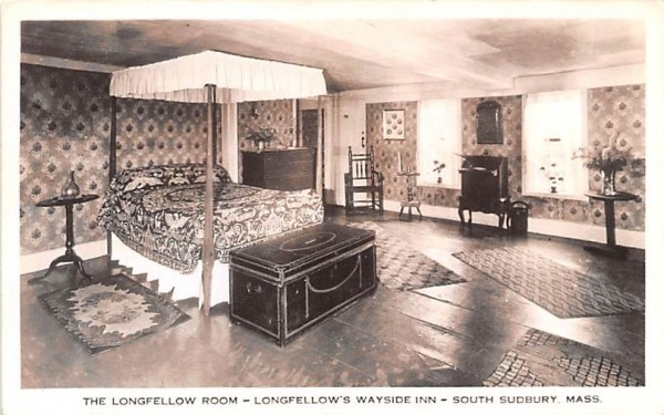 The Longfellow Room South Sudbury, Massachusetts Postcard