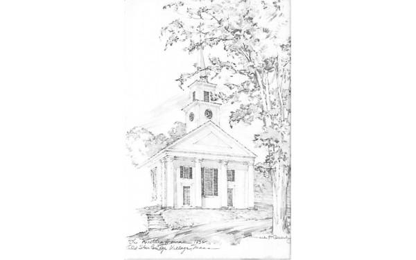 Meeting House Sturbridge, Massachusetts Postcard