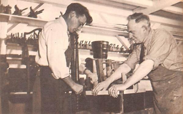 Cabinet Maker & Apprentice Sturbridge, Massachusetts Postcard