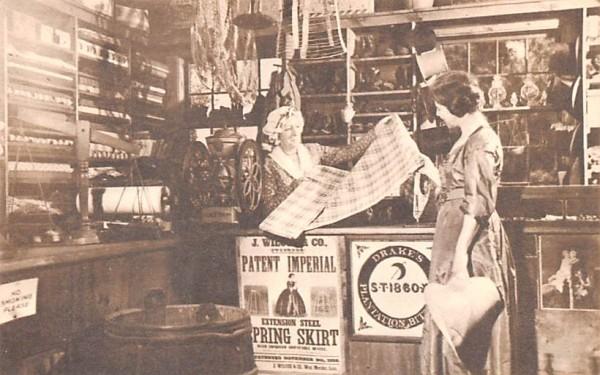 Interior Miner Grant's General Store Sturbridge, Massachusetts Postcard