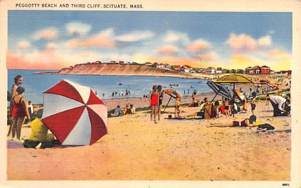 Peggotty Beach & Third Cliff Scituate, Massachusetts Postcard