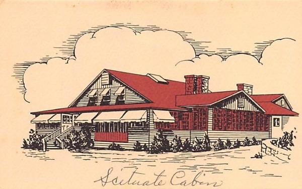 Scituate Cabin Massachusetts Postcard