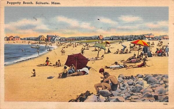 Peggotty Beach Scituate, Massachusetts Postcard