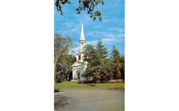 The Famouse Christopher Wren Church Sandwich, Massachusetts Postcard