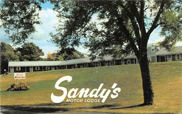 Sandy's Motor Lodge Sandwich, Massachusetts Postcard