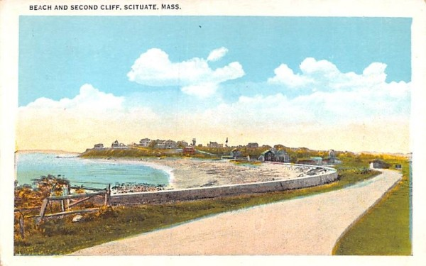 Beach & Second Cliff Scituate, Massachusetts Postcard