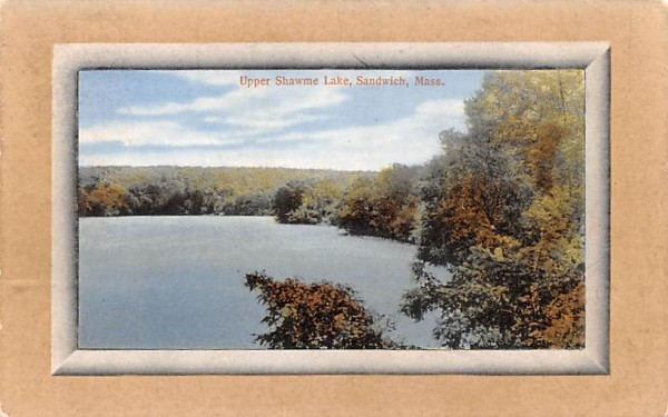 Upper Shawme Lake Sandwich, Massachusetts Postcard