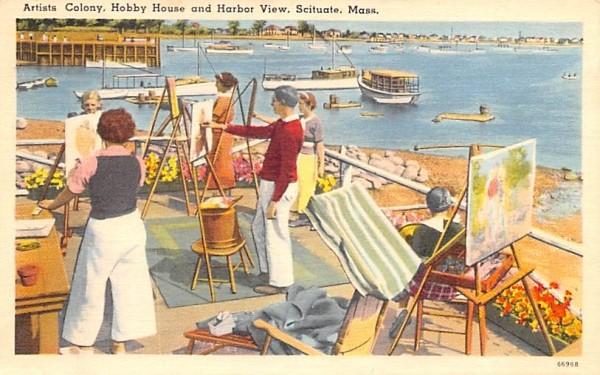 Artist Colony  Scituate, Massachusetts Postcard
