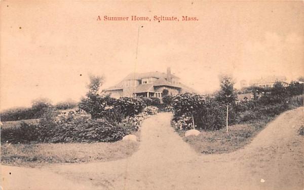 A Summer House Scituate, Massachusetts Postcard