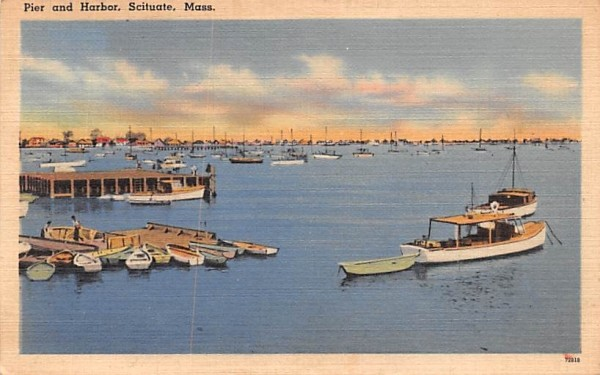 Pier & Harbor Scituate, Massachusetts Postcard