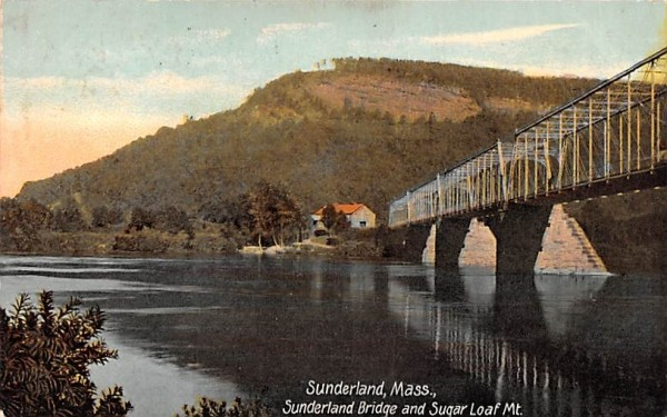 Sunderland Bridge & Sugar Loaf Mt. Massachusetts Postcard