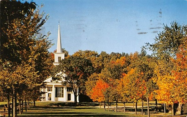 Early Autumn View of the Old Sturbridge Village  Massachusetts Postcard