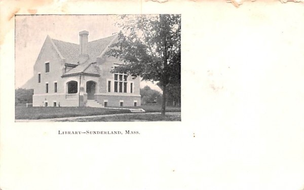 Library Sunderland, Massachusetts Postcard