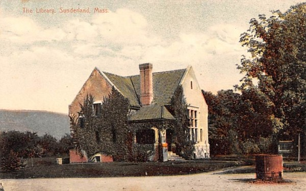 The Library Sunderland, Massachusetts Postcard