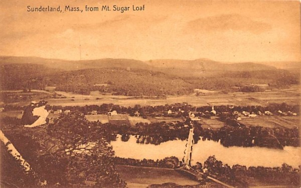 Sunderland, Mass. From Mt. Sugar Loaf Massachusetts Postcard