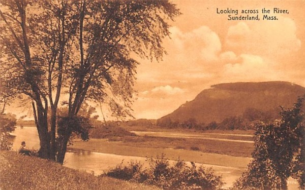 Looking across the River Sunderland, Massachusetts Postcard
