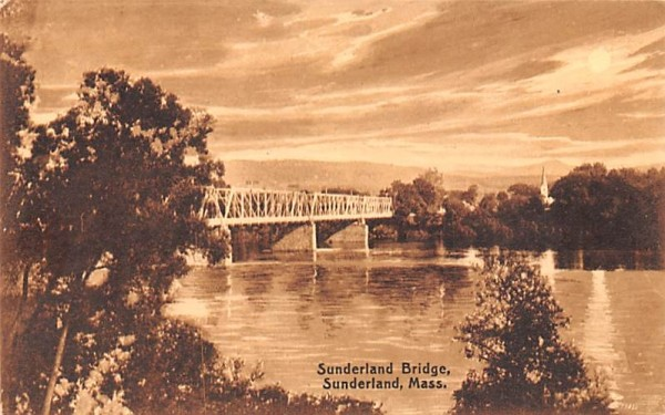 Sunderland Bridge Massachusetts Postcard