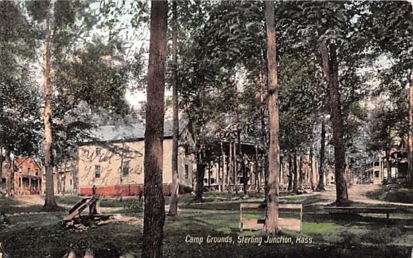 Camp Grounds Sterling Junction, Massachusetts Postcard