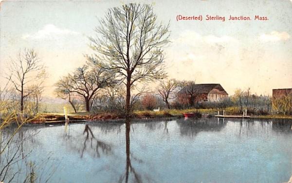 (Deserted) Sterling Junction Massachusetts Postcard