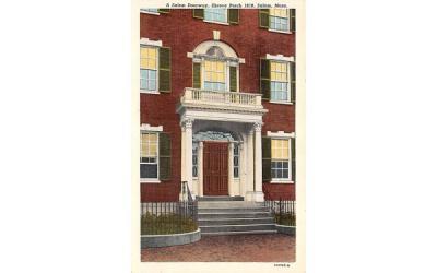 A Salem Doorway Massachusetts Postcard