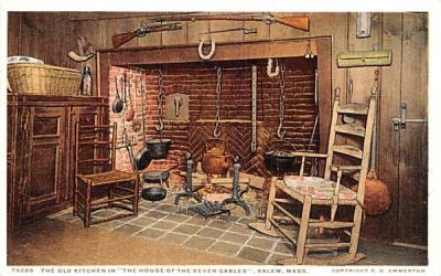 The Old Kitchen Salem, Massachusetts Postcard