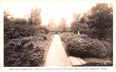 The Old Fashioned Garden South Sudbury, Massachusetts Postcard