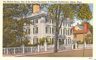 The Nichols House Salem, Massachusetts Postcard