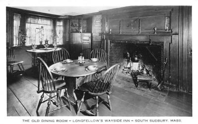 The Old Dining Room South Sudbury, Massachusetts Postcard