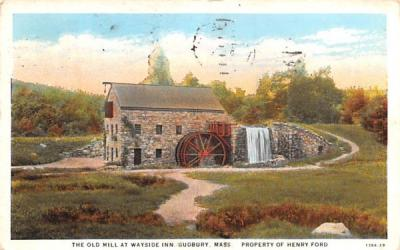 The Old Mill Sudbury, Massachusetts Postcard