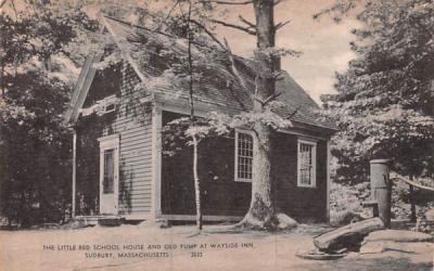 The Little Red School House Sudbury, Massachusetts Postcard
