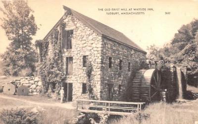 The Old Grist Mill Sudbury, Massachusetts Postcard