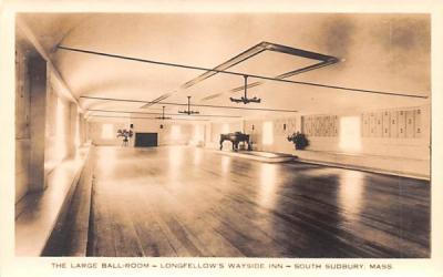 The Large Ball-Room South Sudbury, Massachusetts Postcard