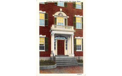 A Salem Doorway Massachusetts Postcard