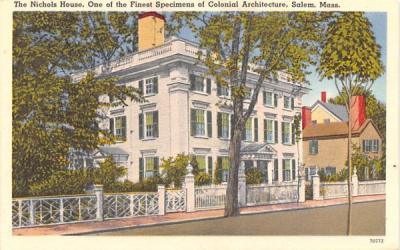 The Nichols House Salem, Massachusetts Postcard