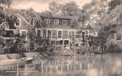 The Old Mill Shop Sandwich, Massachusetts Postcard