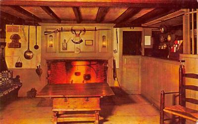 The Old Bar-Room Sudbury, Massachusetts Postcard
