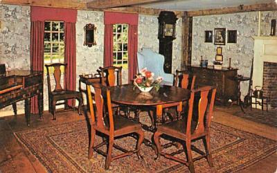 The Longfellow Parlor Sudbury, Massachusetts Postcard