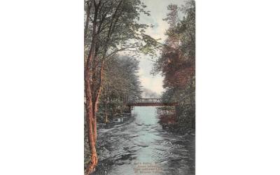 Brook between Upper & Lower Lake South Hadley, Massachusetts Postcard