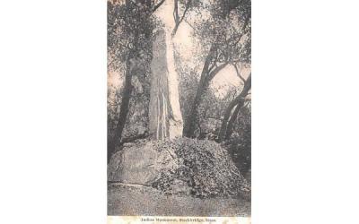Indian Monument Stockbridge, Massachusetts Postcard