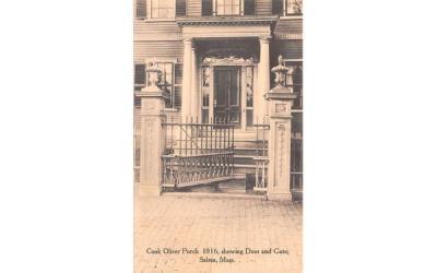 Cook Oliver Porch 1816 Salem, Massachusetts Postcard
