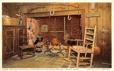 The Old Kitchen Salem, Massachusetts Postcard