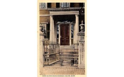 Cook Oliver Porch Doorway Salem, Massachusetts Postcard