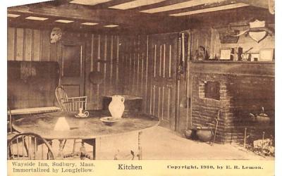 Kitchen Sudbury, Massachusetts Postcard