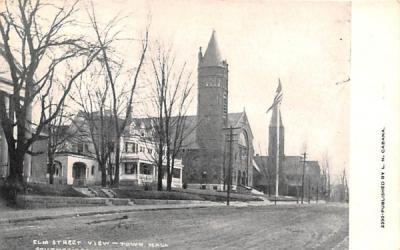 Elm Street Southbridge, Massachusetts Postcard