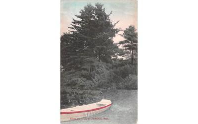 Brook & Trees Sturbridge, Massachusetts Postcard