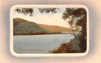 A River View Sunderland, Massachusetts Postcard